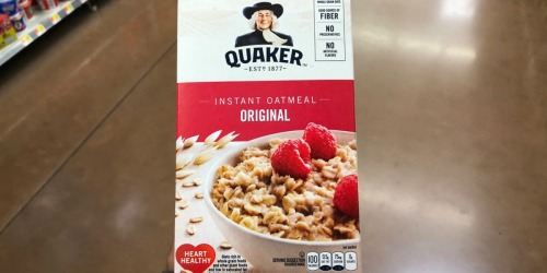 Amazon: Quaker Instant Oatmeal 48-Packets as Low as $7.77 Shipped