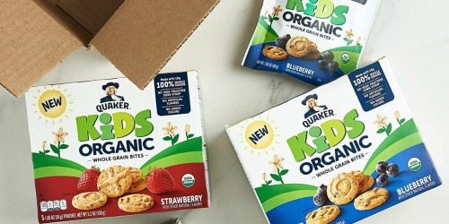 Amazon: Quaker Kids Organic Whole Grain Bites 4-Boxes Only $10.79 Shipped