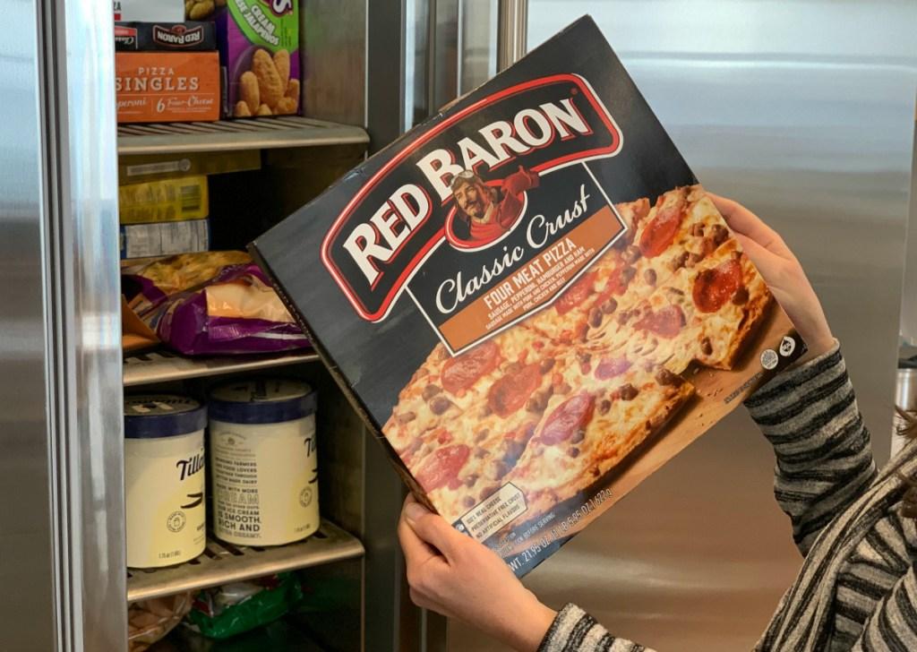 Red Baron Pizza Box