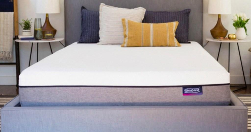 Simmons Beauty Rest Mattresses in model bedroom