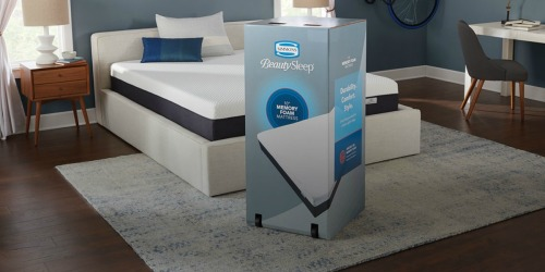 70% Off Simmons BeautySleep Memory Foam Mattress-in-a-Box Mattresses + FREE Shipping