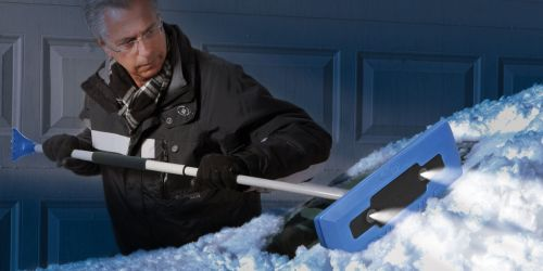 Snow Joe Pro LED Lighted 4-in-1 Snow Broom & Ice Scraper Only $11.99 (Regularly $20) + More at Home Depot