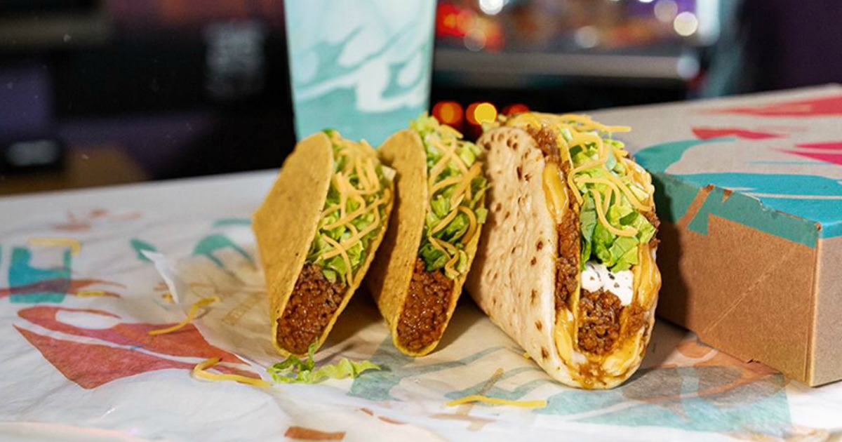 3 tacos from Taco Bell