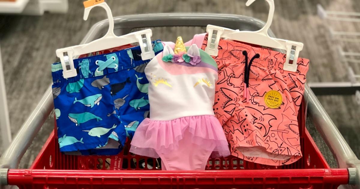 Target Cat & Jack Swimwear in a cart
