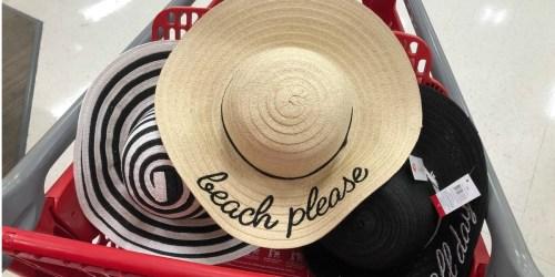 Adorable $5 Straw Hats at Target Bullseye's Playground