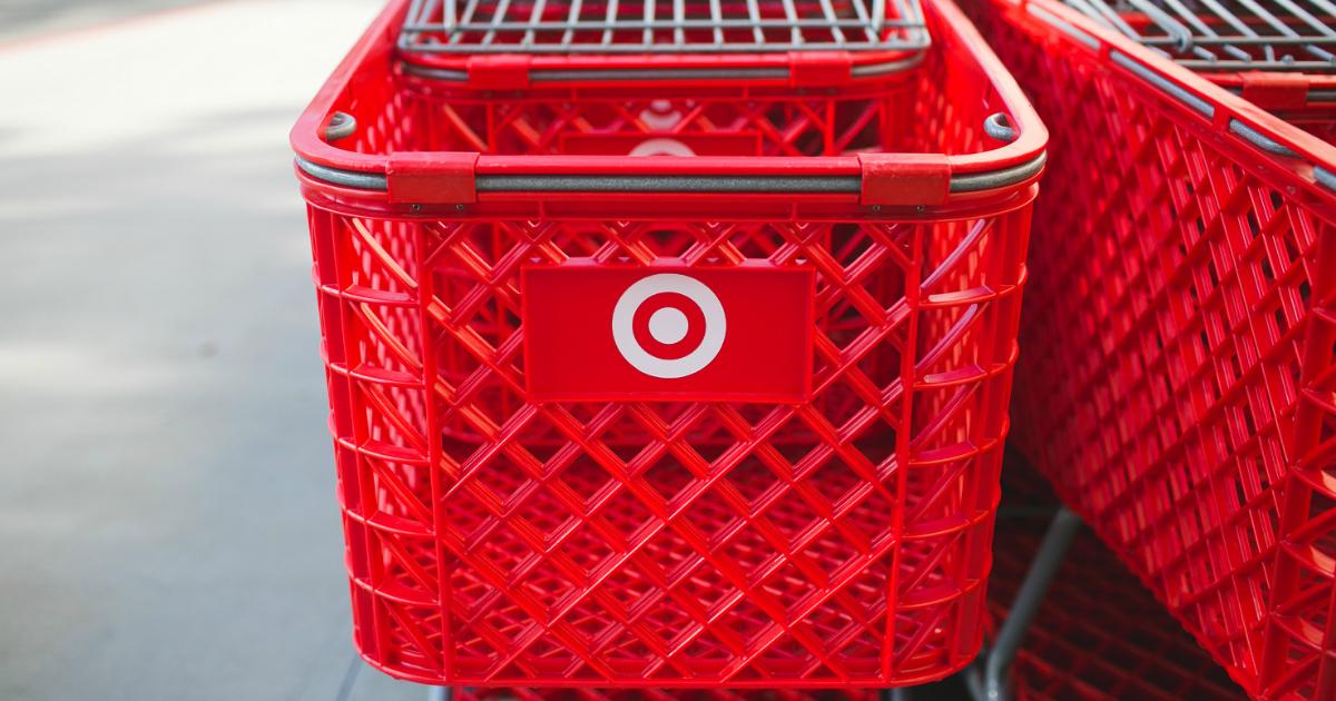 Target shopping cart front
