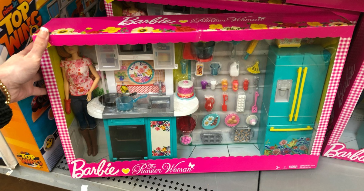 Barbie The Pioneer Woman Kitchen Set As Low As 15 Regularly 45 At Walmart Hip2save