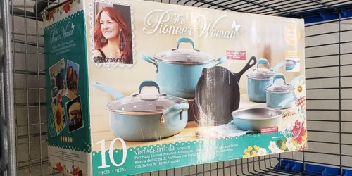 The Pioneer Woman 10-Piece Cookware Set Possibly Only $25 (Regularly $89) at Walmart