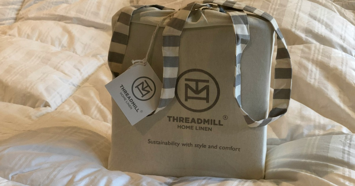 Threadmill sheet set in the packaging