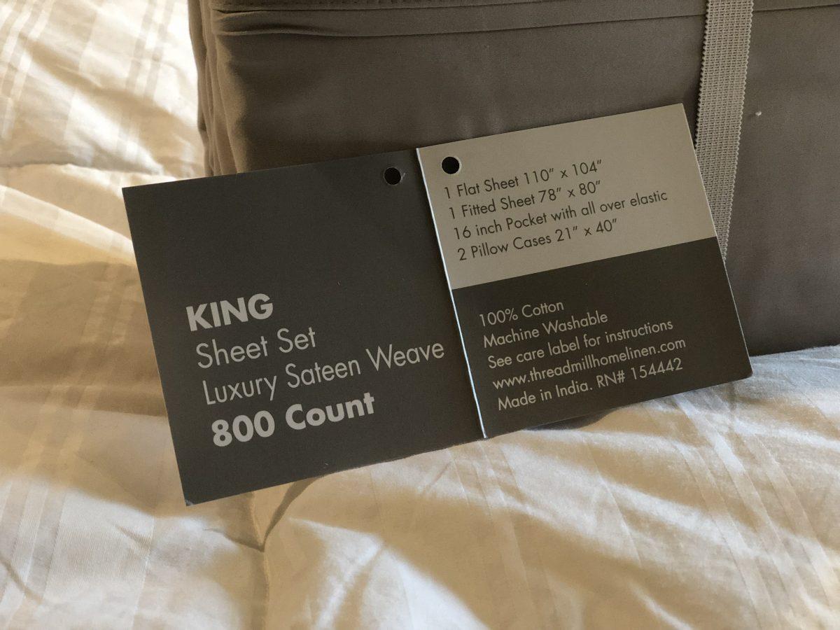 contents of a sheet set folding card