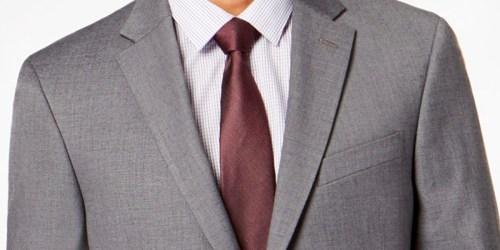 Over 80% Off Men's Suits at Macy's (Van Heusen, Tommy Hilfiger & More)