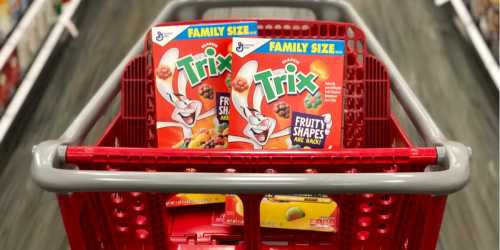 Trix Family Size Cereal Boxes Only $2 Each After Cash Back at Target