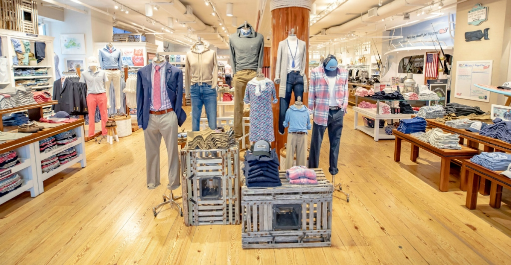 Vineyard Vines retail store display