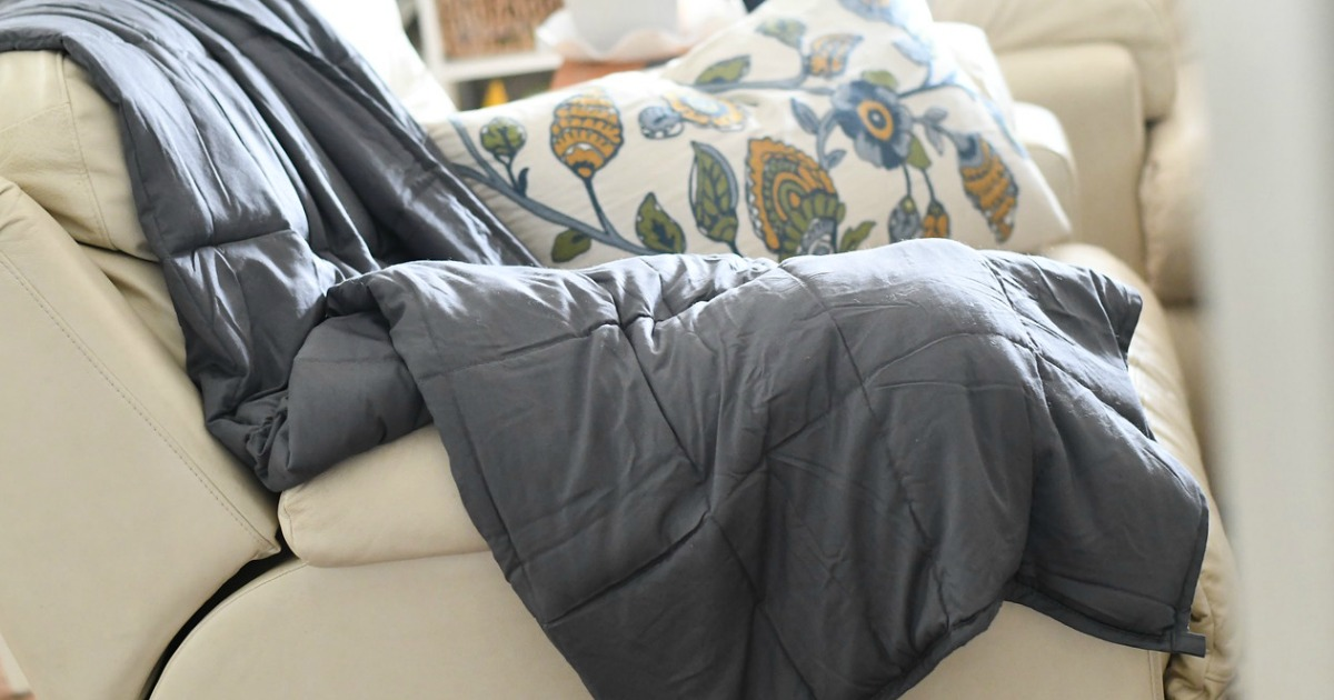 Sharper Image 15lb Weighted Blanket As Low As 106 Shipped Get 20