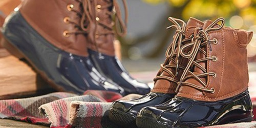 Women's Duck Boots Only $19.99 at Zulily | 9 Color Options