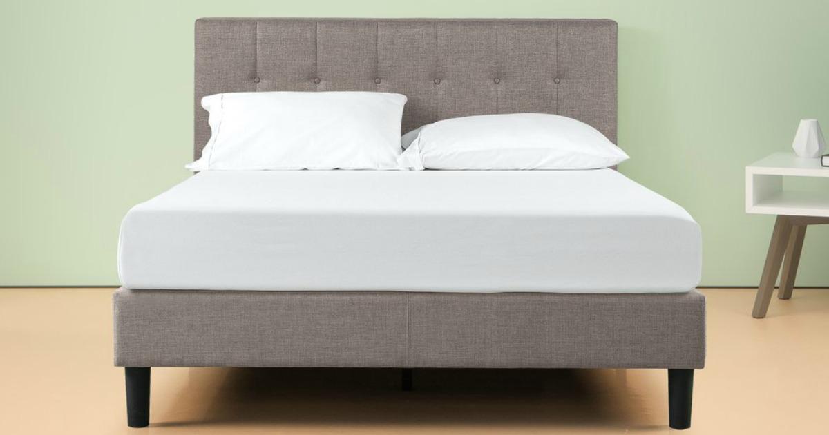 30 Off Zinus Upholstered Platform Bed Frames Free