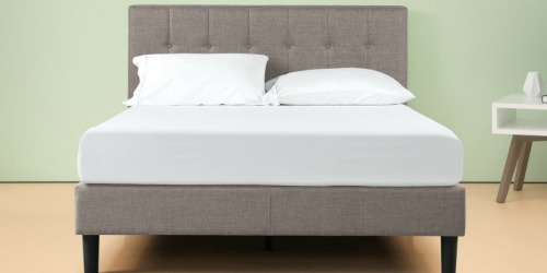 30% Off Zinus Upholstered Platform Bed Frames + Free Shipping