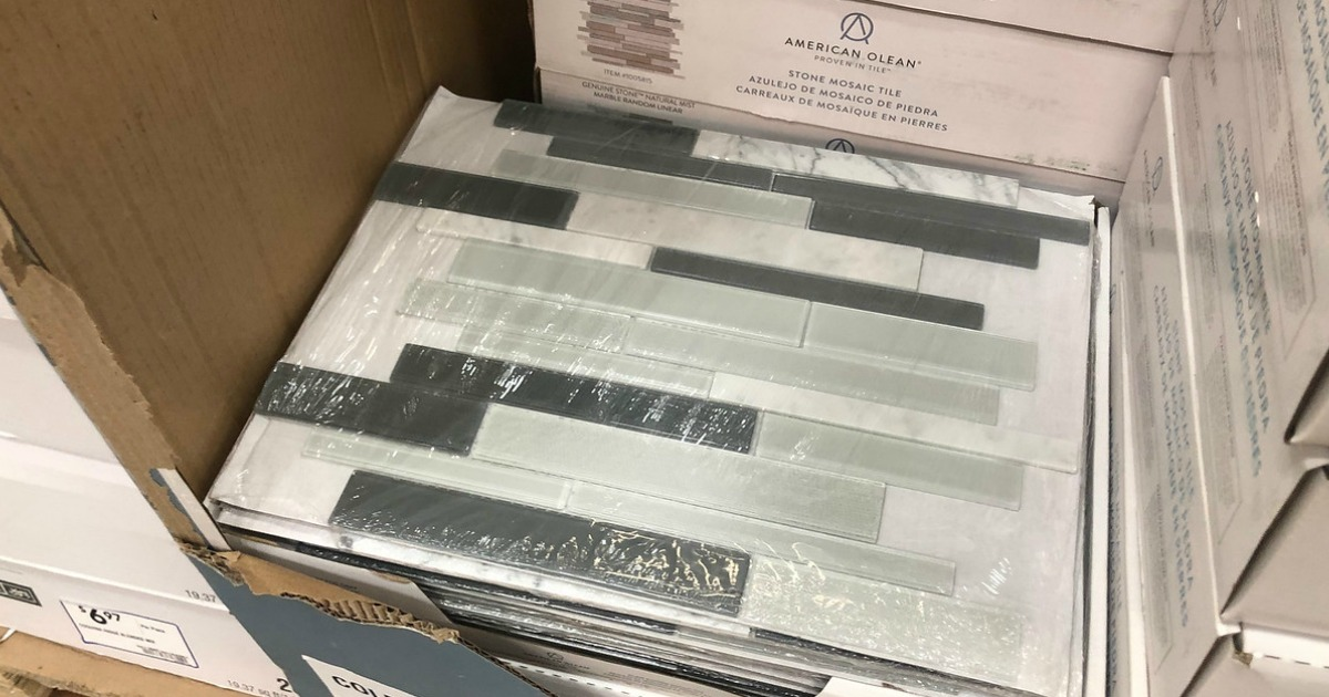Mosaic Wall Tile Possibly as Low as $1 60 at Lowe's