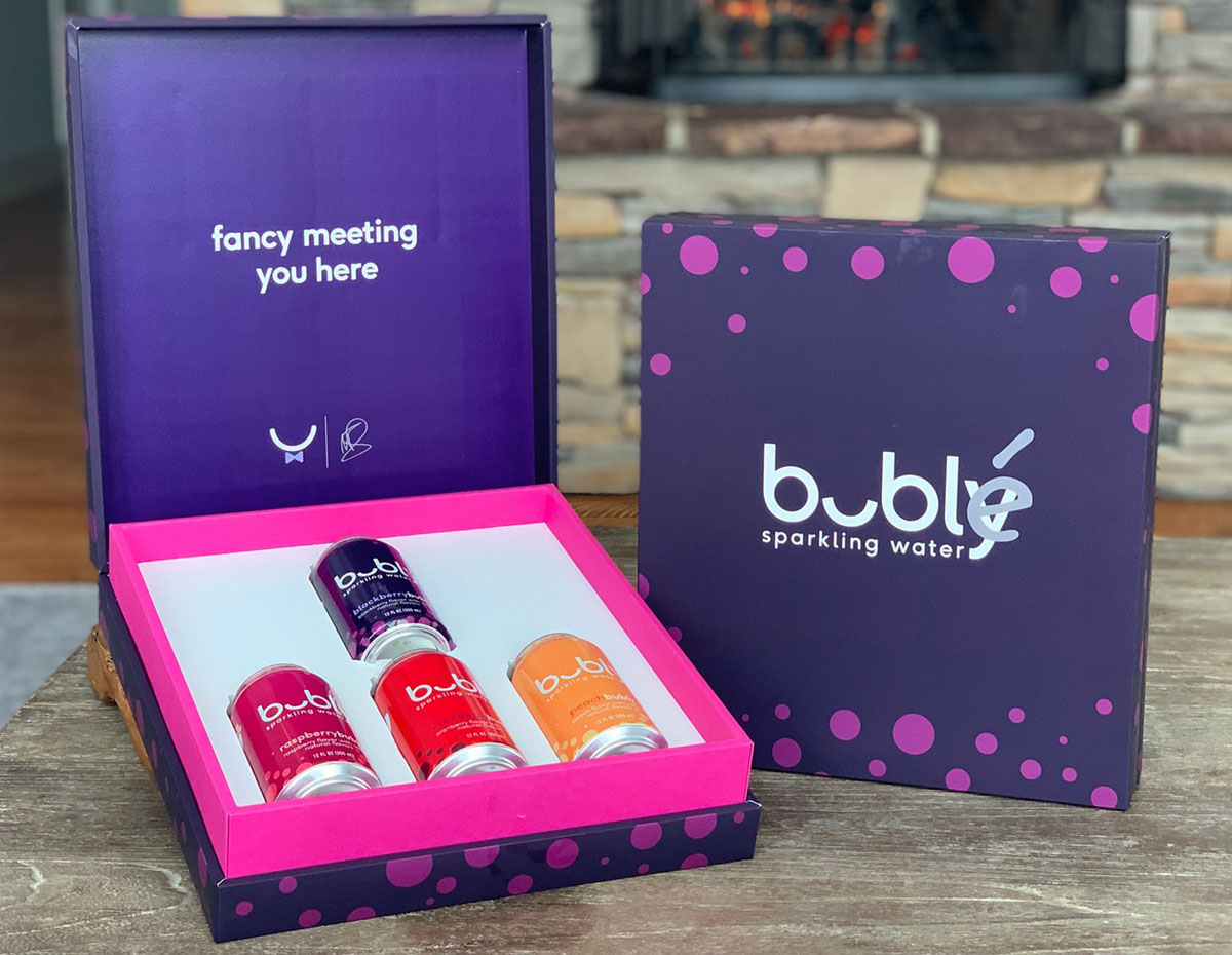 bubly display marketing box