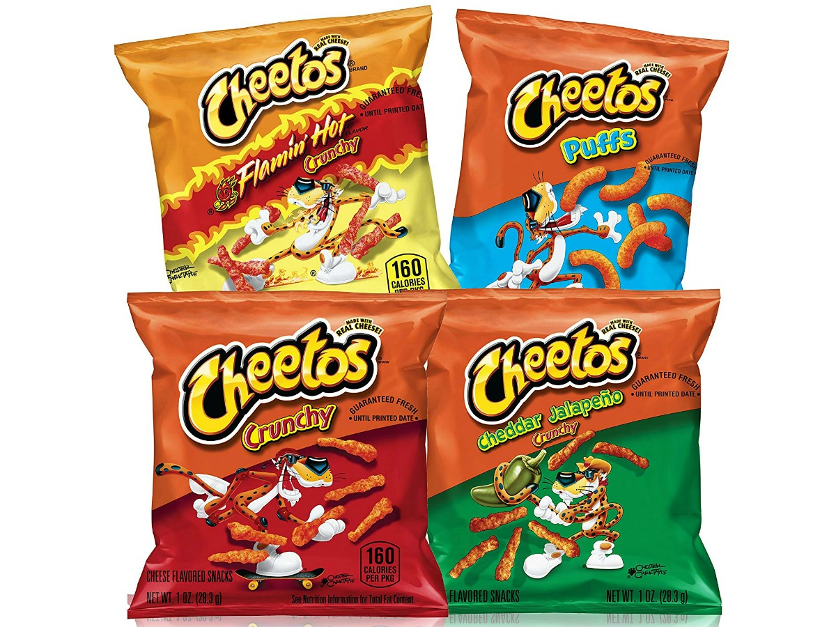 variety of cheetos including crunchy, flamin hot and more