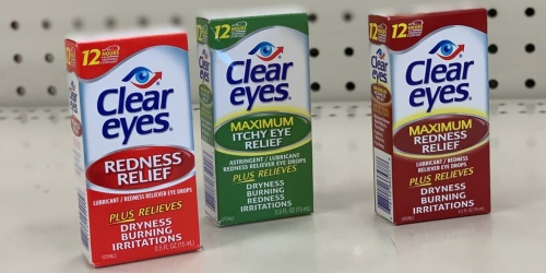 Clear Eyes Maximum Relief Eye Drops Only $1.80 at Target