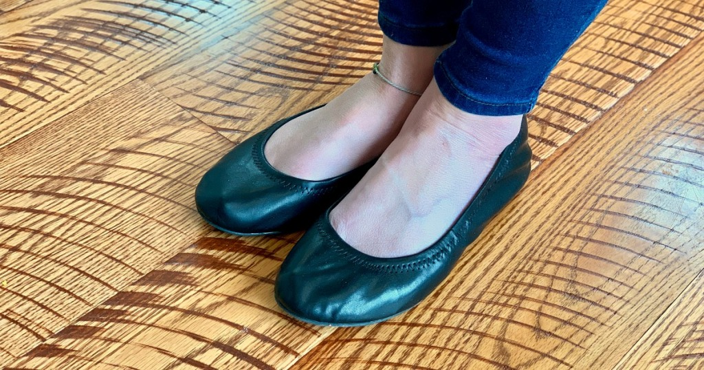walmart wednesday — collin wearing black ballet flats