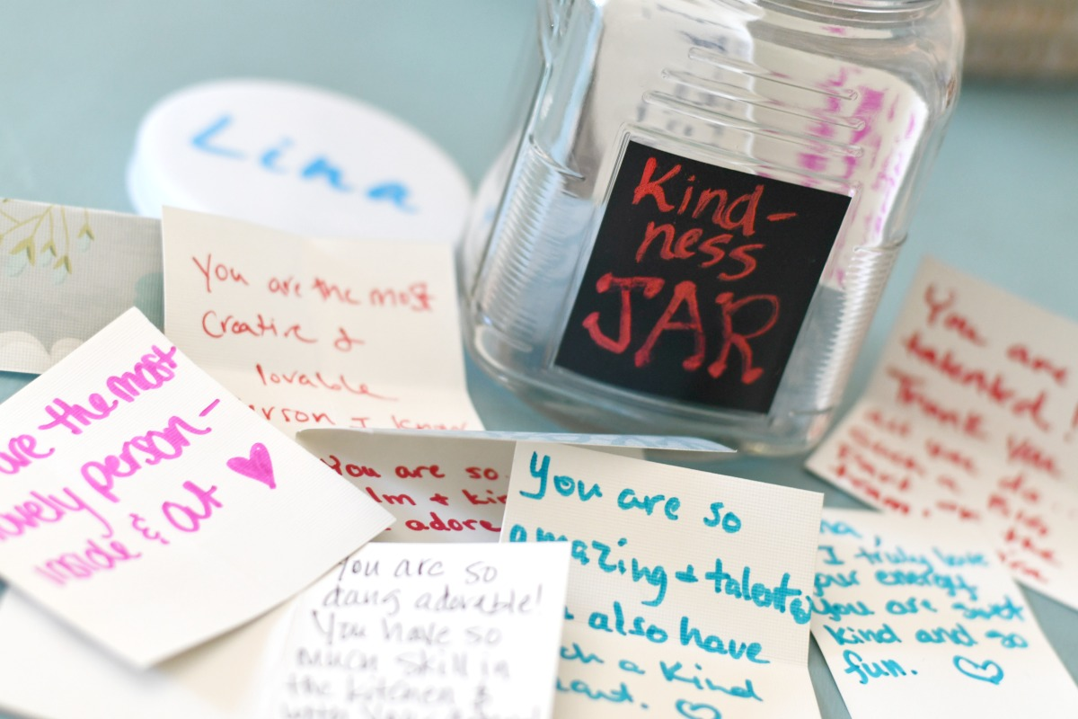 written compliments from the jar