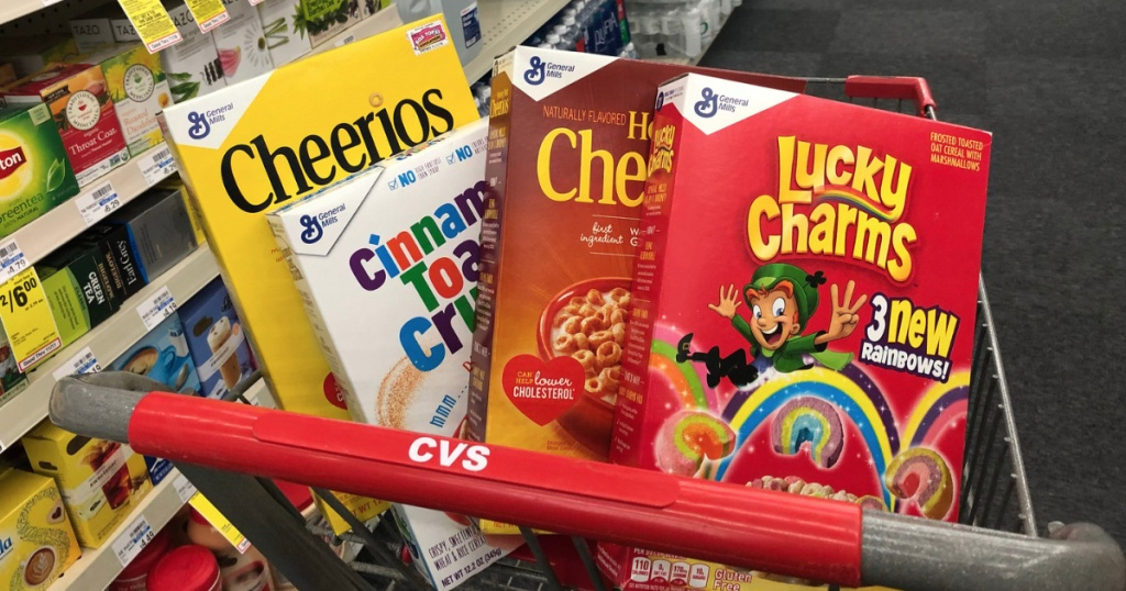 General Mills Cereals in CVS cart