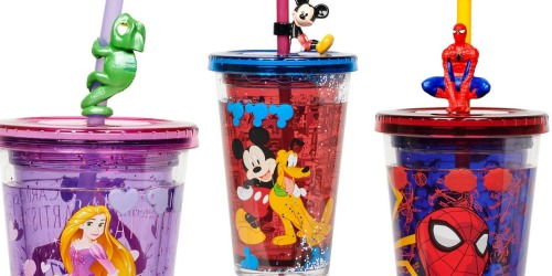 Disney Double-Walled Tumblers w/ Straws Just $3.74 (Regularly $9)