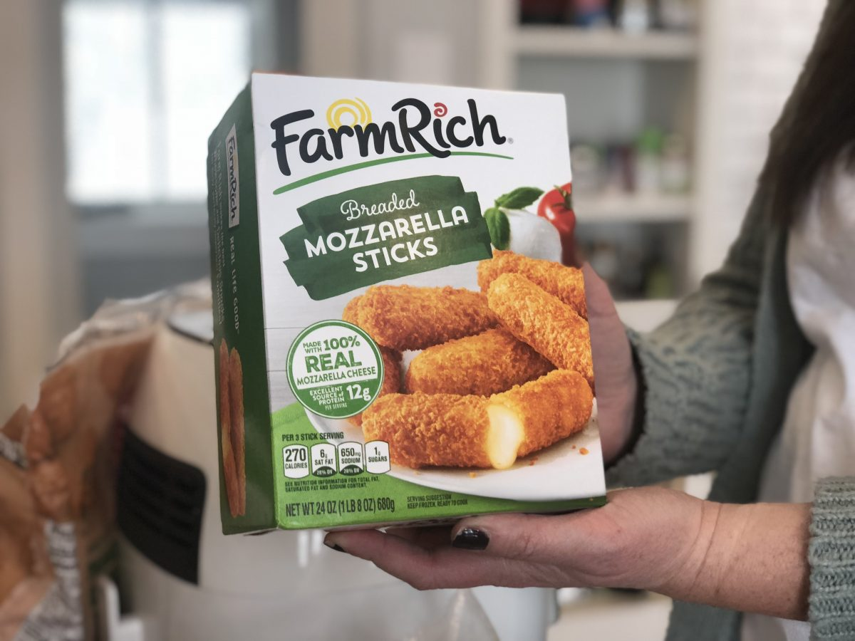 farm rich mozzarella sticks in the air fryer