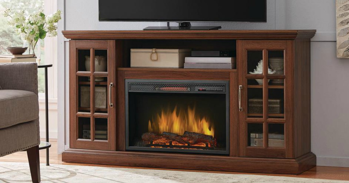 Up To 100 Off Electric Fireplace Tv Stands At Home Depot Hip2save