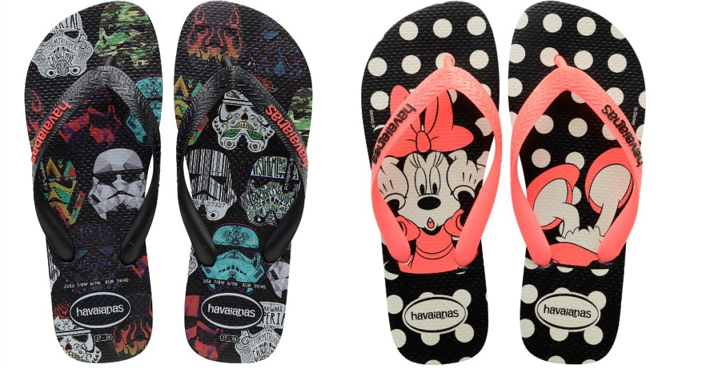 985aefc44 Check out these fun styles… Star Wars Men s Havaianas Black Stormtrooper  Flip-Flop