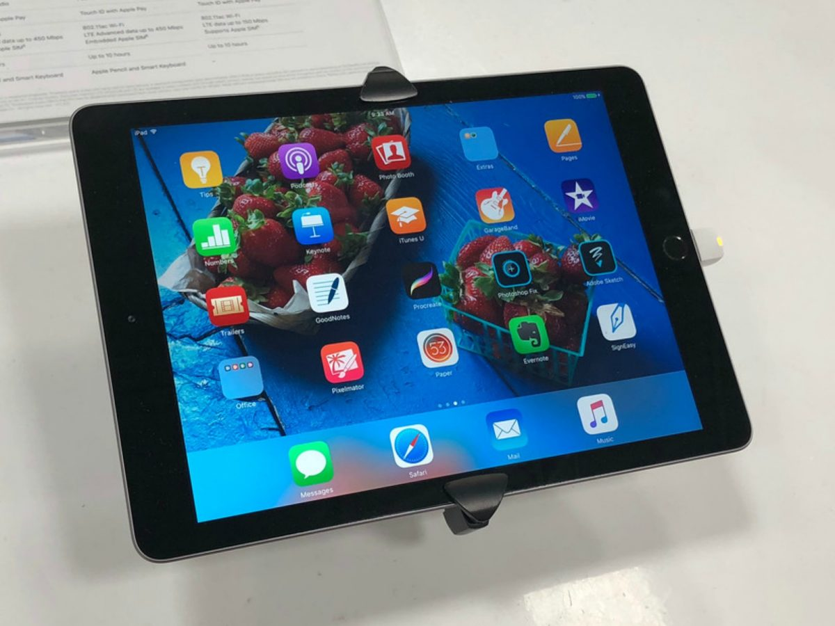 iPad on display in store