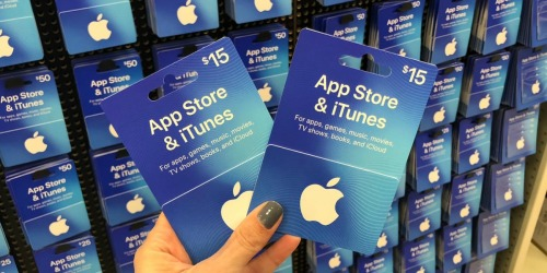 Buy One, Get One 20% Off iTunes Gift Cards at Target