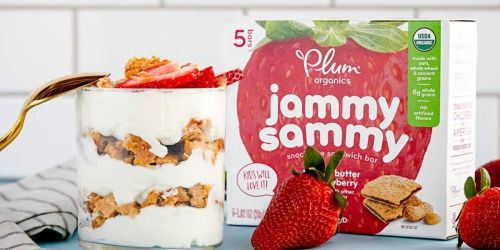 Plum Organics Jammy Sammy 30-Count Bars Only $14.25 Shipped from Amazon & More