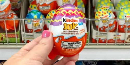 Kinder Joy Eggs Only 62¢ Each After Cash Back at Target