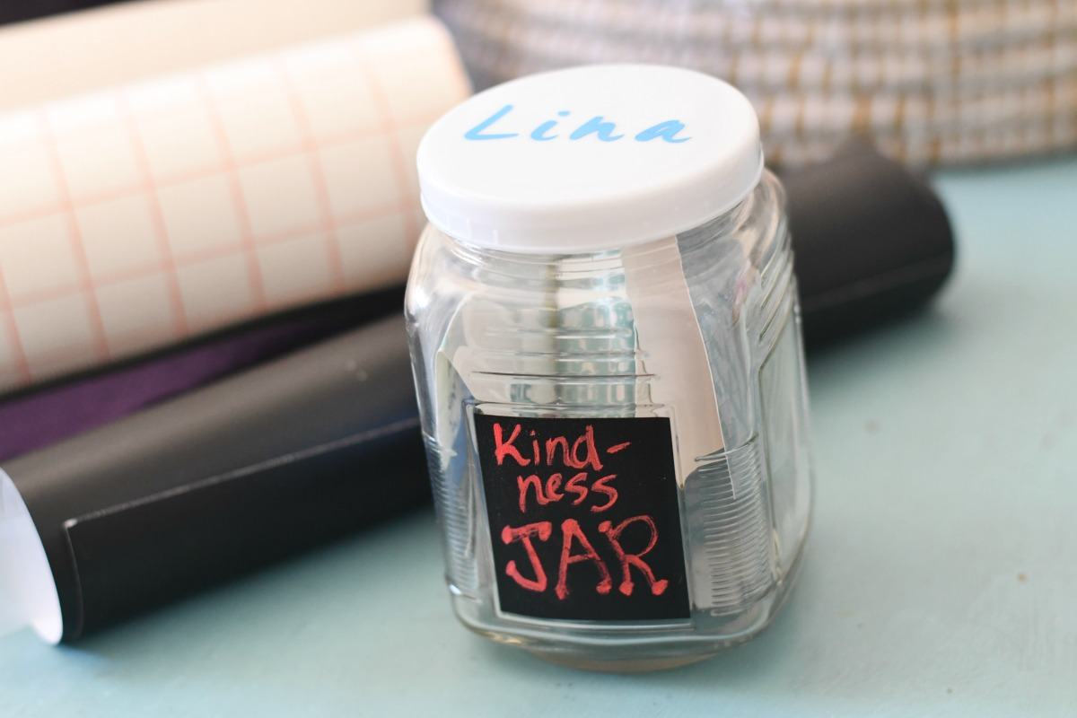 Lina's jar and a chalkboard label