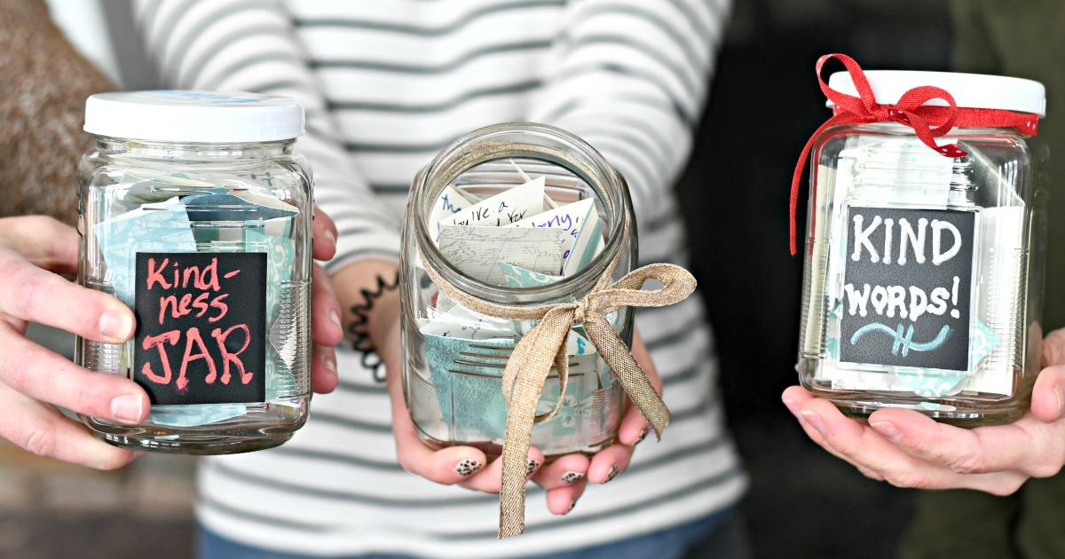 kindness jars mason jar craft