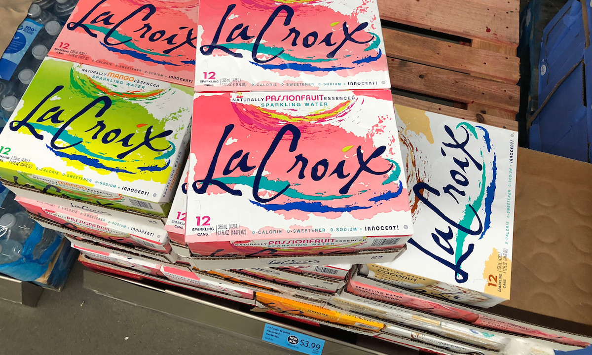 la croix stacked on wood pallet
