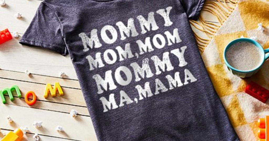 156c3f30 ... from S – 4X, depending on shirt style. Pick up one to show off your own  personal mama mantra, or grab one for a Mother's Day gift!