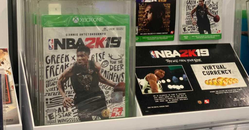 nba 2k19 on store shelf