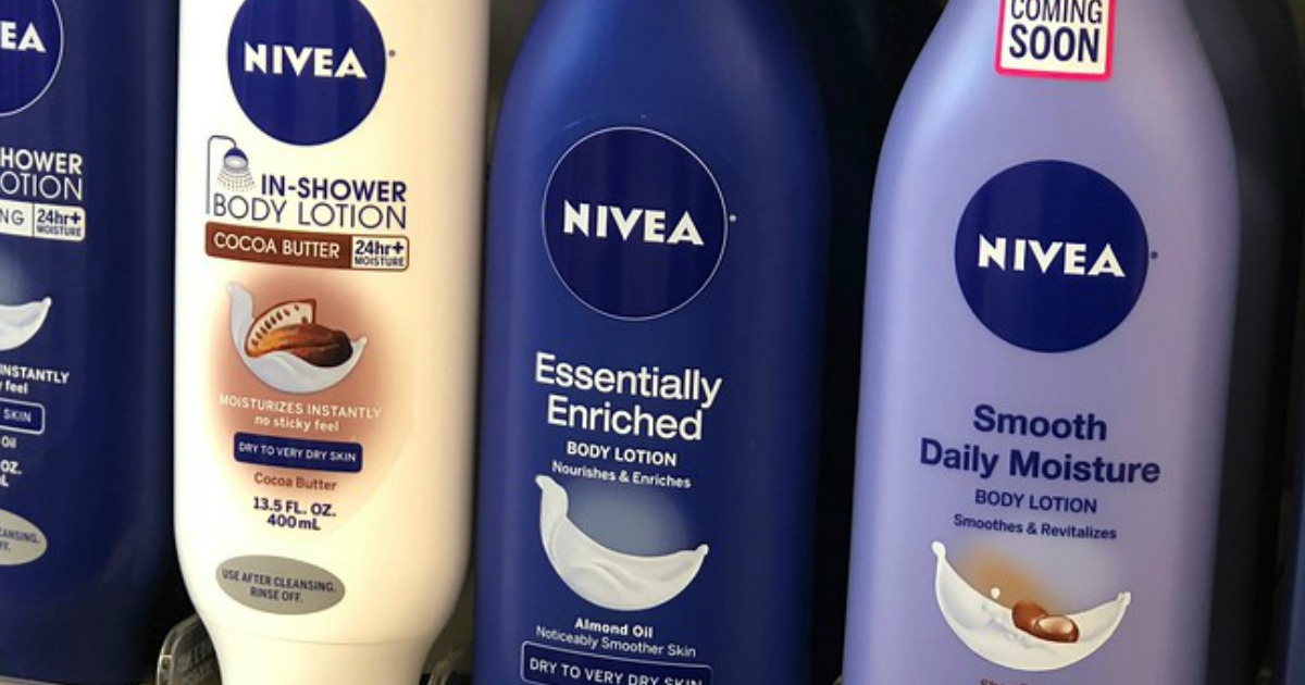 photo about Nivea Printable Coupons referred to as Large Price $4/2 Nivea Coupon \u003d Overall body Lotion Just 49¢ Soon after