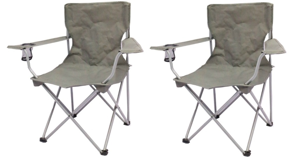 ozark camping chairs in gray