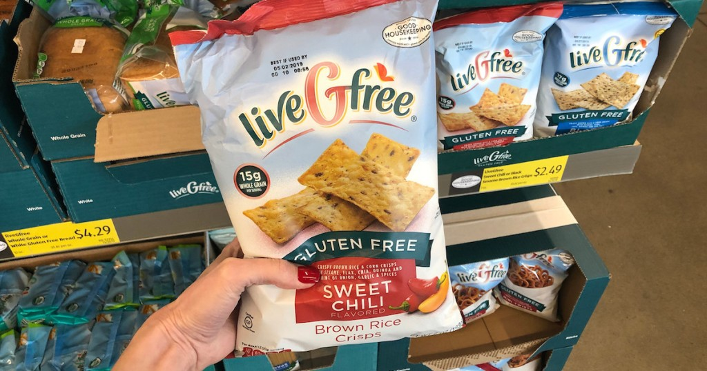 hand holding bag of sweet chili chips