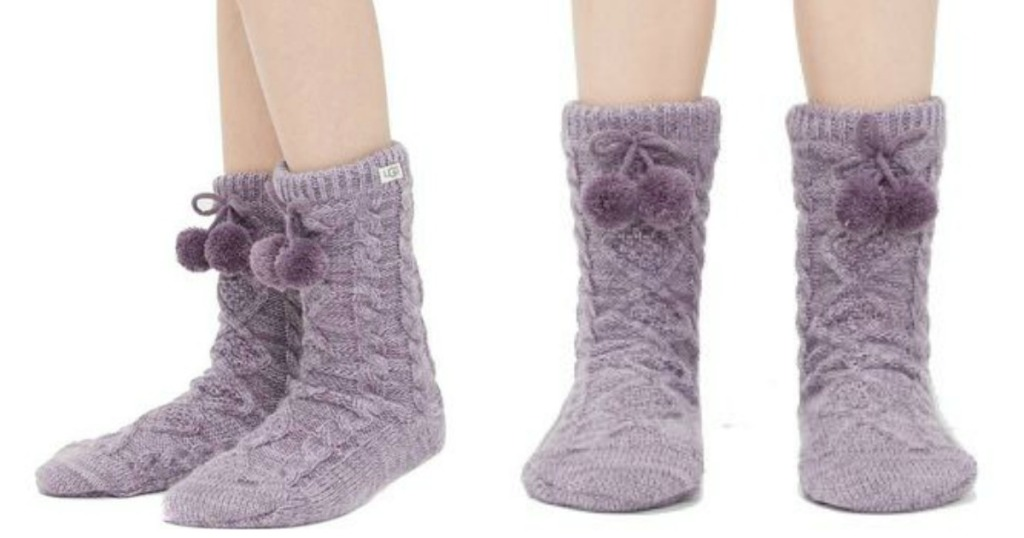 53dcdabeadb UGG Closet Pom-Pom Fleece Lined Socks Just $18.99 (Regularly $50)