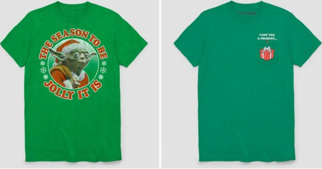 Men s Star Wars Yoda Ugly Holiday Jolly Short Sleeve T-Shirt Only  3.99  (regularly  9.99) e520805e1