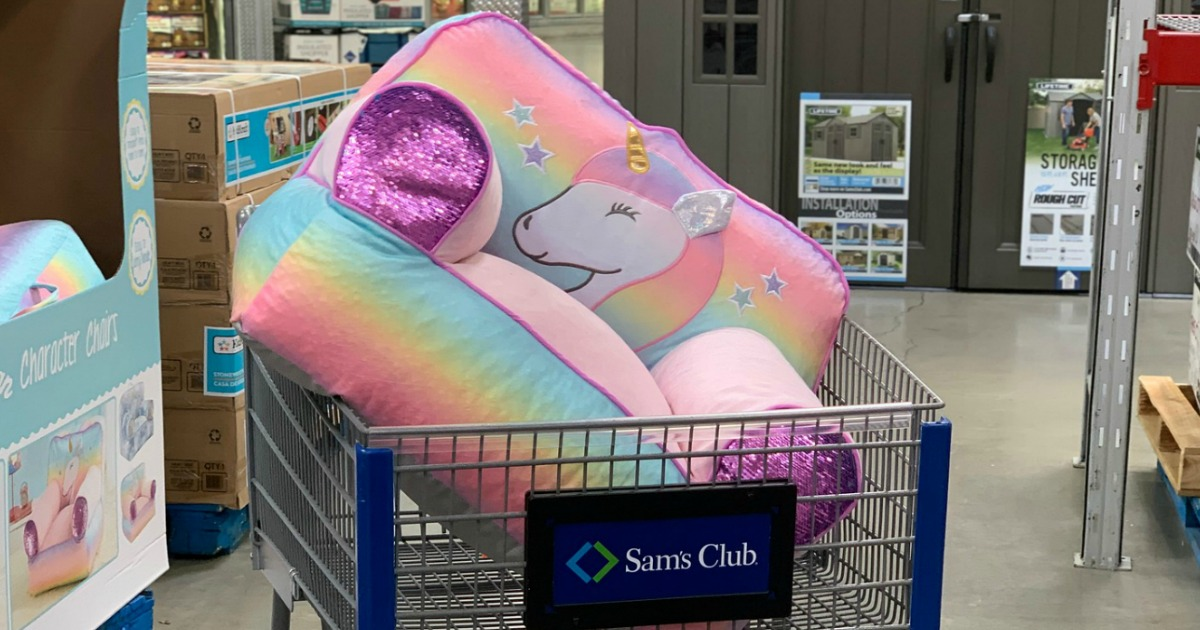 Groovy Adorable Unicorn Bean Bag Chair Just 29 98 At Sams Club Squirreltailoven Fun Painted Chair Ideas Images Squirreltailovenorg