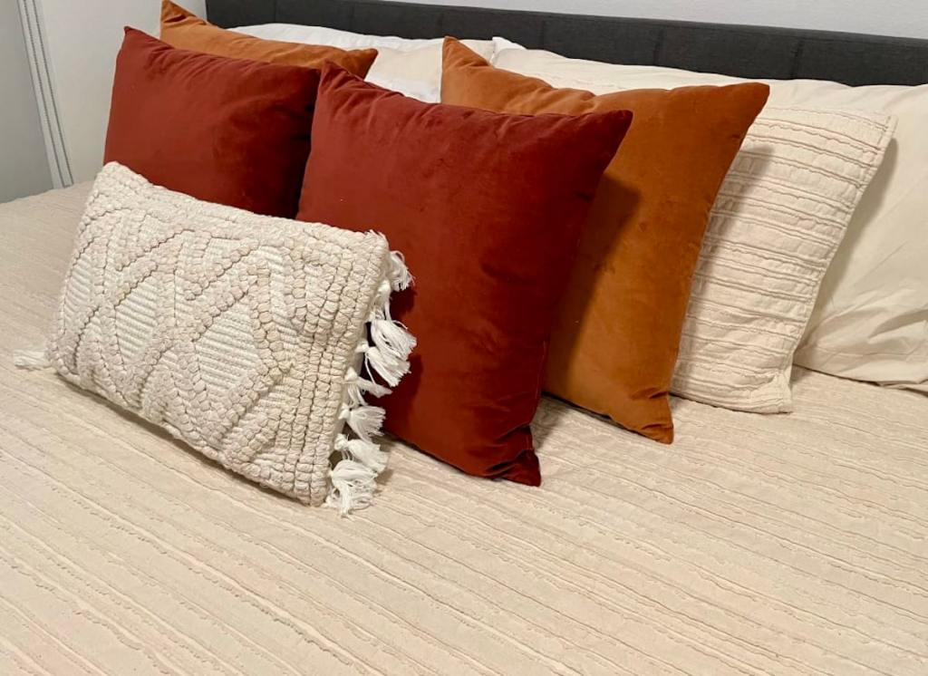 world market velvet pillows