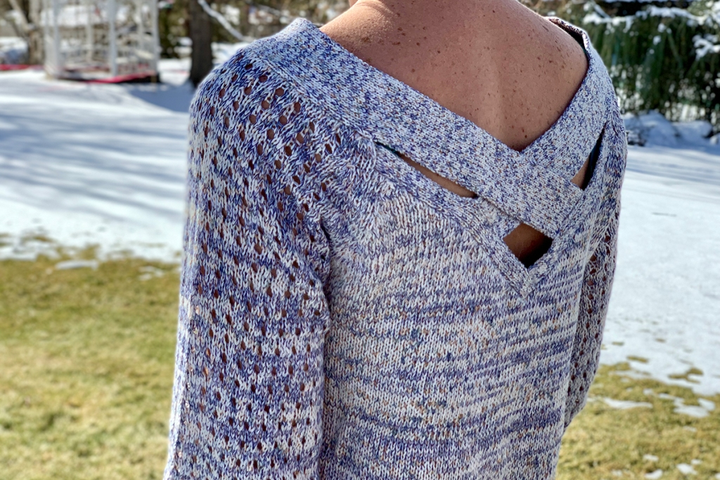 walmart wednesday — walmart sweater with crossback detailing