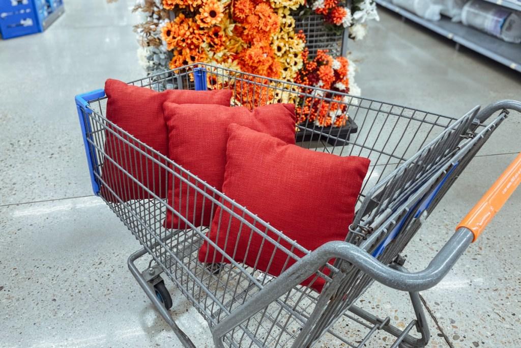 walmart pillows in cart